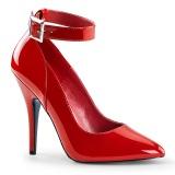Tacones rojo 13 cm SEDUCE-431 Zapato de salón correa de tobillo