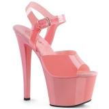 Tacones rosas 18 cm SKY-308N JELLY-LIKE material elástico tacones altos plataforma