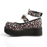 Tejidos de lino 6 cm SPRITE-02 lolita zapatos góticos calzados con suela gruesa