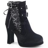 Terciopelo 10 cm CRYPTO-51 lolita góticos botines suela gruesa