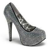 Titanio Piedras Strass 14,5 cm Burlesque TEEZE-06R Plataforma Zapato Salón