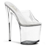 Transparent 20 cm FLAMINGO-801 Platform High Heel Mules