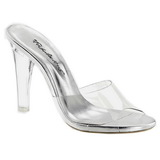 Transparente 11,5 cm CLEARLY-401 Plateau Mulas Tacones Altos Mujer