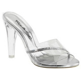 Transparente 11,5 cm CLEARLY-401R Plateau Mulas Tacones Altos Mujer