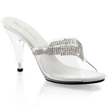 Transparente 11 cm CARESS-401-5 Mulas Zapatos Cristal Piedra Tacones