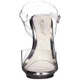Transparente 12,5 cm POISE-508 sandalias de tacón alto