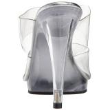 Transparente 12 cm FLAIR-402 Zuecos de mujer para Hombres