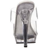 Transparente 13 cm Fabulicious LIP-102 Mulas Tacones Altos