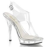 Transparente 13 cm LIP-107 Zapatos de tacón altos mujer