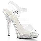 Transparente 13 cm LIP-108MG Zapatos de tacón altos mujer