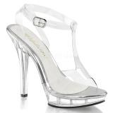 Transparente 13 cm LIP-118 Zapatos de tacón altos mujer