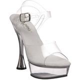 Transparente 14 cm SWEET-408 Zapatos de tacón altos mujer