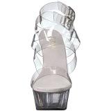 Transparente 15 cm DELIGHT-635 sandalias de tacón alto