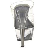 Transparente 15 cm KISS-202 Plataforma Mules Calzado