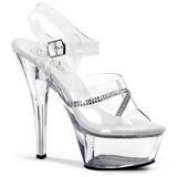 Transparente 15 cm KISS-208R Zapatos de tacón altos mujer