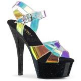 Transparente 15 cm KISS-220MMR sandalias de tacón alto
