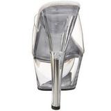 Transparente 15 cm PRINCESS-201 Plataforma Mules Calzado