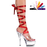Transparente 15 cm Pleaser KISS-295 Tacones Altos Plataforma