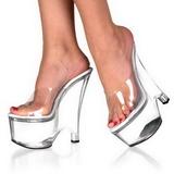 Transparente 16,5 cm Pleaser BEAU-601 Zapatos De Cuna Alta