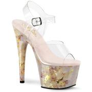 Transparente 18 cm ADORE-708MB Zapatos con tacones pole dance