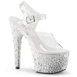 Transparente 18 cm ADORE-708MR-5 Zapatos de tacón altos mujer