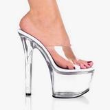 Transparente 18 cm PLEASER SKY-301 Plataforma Mules Calzado