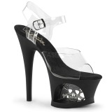Transparente 18 cm Pleaser MOON-708SK Zapatos Tacón Aguja Plataforma