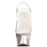 Transparente 18 cm TREASURE-708 sandalias stripper con plataforma