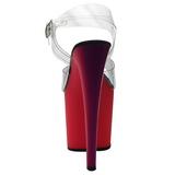 Transparente 19 cm RAINBOW-708UV Sandalias Mujer Plataforma Neon