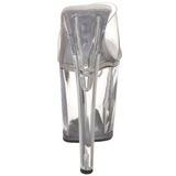 Transparente 20 cm XTREME-801 Plataforma Mules Calzado