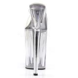 Transparente 23 cm Pleaser INFINITY-901 Plataforma Mules Altos