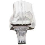 Transparente 5 cm CRYSTAL-103 Zapato Salón para Fiesta con Tacón