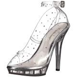Transparente Cristal 13 cm LIP-183 Zapato Salón para Fiesta