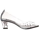Transparente Cristal 5 cm CRYSTAL-100 Zapato Salón para Fiesta con Tacón