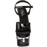 Transparente Negro 18 cm SKY-309LN Tacones Altos Zapatos Plateau