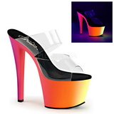 Transparente RAINBOW-302UV 18 cm Neon Plataforma Mules Calzado