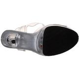 Transparente Strass 15 cm CAPTIVA-608 Acrilico Plataforma Zapatos Tacón Alto