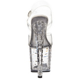 Transparente Strass 19 cm STARDUST-758 Acrilico Zapatos Tacón Alto