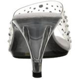 Transparente Strass 8 cm BELLE-301RS Zuecos de mujer para Hombres