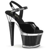 Transparentes sandalias pleaser con plataforma 18 cm SPECTATOR-709