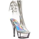 Traslucido 15 cm KISS-1018C botines con suela plataforma mujer