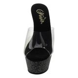 Traslucido 15 cm KISS-201MG Brillo Plataforma Zapatos Estilo Mules