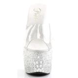 Traslucido 18 cm ADORE-701MR-5 Piedras Brillantes Plataforma Zapatos