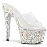 Traslucido 18 cm BEJEWELED-701MR Piedras Brillantes Plataforma Zapatos
