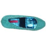 Turquesa Piedras Strass 14,5 cm TEEZE-06R Plataforma Zapato Salón