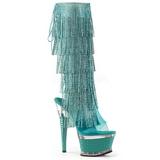 Turquesa Strass 16,5 cm ILLUSION-2017RSF botas con flecos de mujer tacon altos