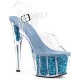 Turquesa purpurina 18 cm Pleaser ADORE-708G Zapatos con tacones pole dance