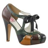 Variopinto 11,5 cm retro vintage BETTIE-19 Zapatos de tacón altos mujer