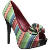 Variopinto 13 cm LOLITA-12 zapatos de salón punta abierta con tacón