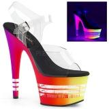 Variopinto 18 cm ADORE-708UVLN Sandalias Mujer Plataforma Neon
